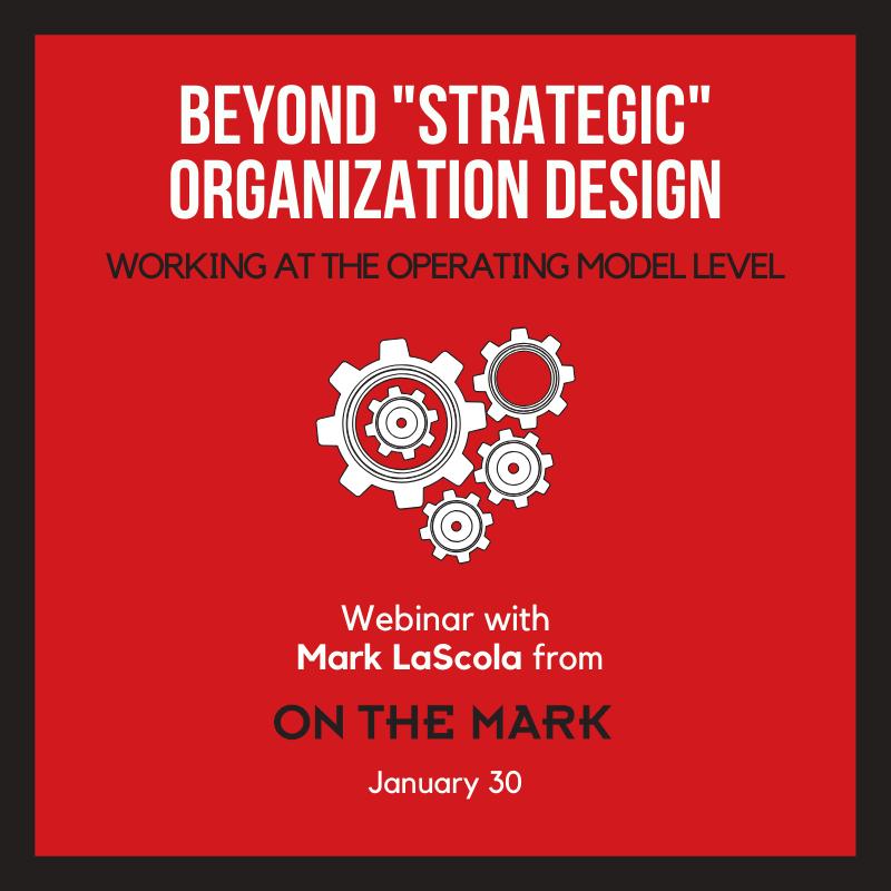 Beyond _Strategic_ organization design (1)